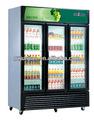 Vertical vitrine bebidas chiller, vidro elétrico porta cooler