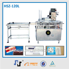 HSZ-120L the fast speed carton machine with packaging line robot