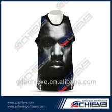 Digital Sublimation Printing Basketball Sports vest