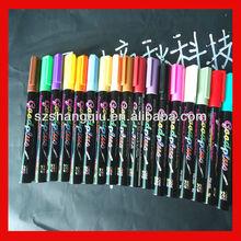6mm chisel nib liquid chalk markers with customer own brand silkscreened onto each marker