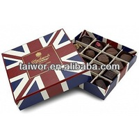 custom cardboard chocolate truffle boxes packaging with plastic inner tray