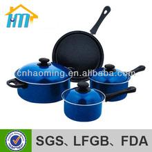 enamel alat memasak set biru emaye tencere china keluli tahan karat alat memasak set