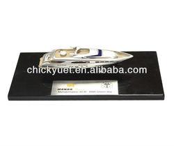 diecast modern yacht model