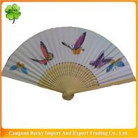 Fancy nice top sale durable butterfly hand fans