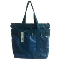 Blue washed 420D lady nylon handbag for college school girl