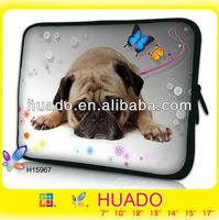 "15"" 15.4"" 15.6 inch Pocket dog Laptop Notebook Carrying Bag Sleeve Case Cover Blue"