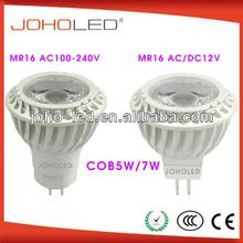 Safety Thermal Conductance Plastic body Ra>80 cob 5w 7w mr16 gu10 indoor led spots lights/led spot light 12v