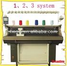 single system, 2 system, 3 system scarf knitting machine