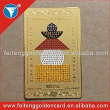 free design brand copper membership card logo printing metal name card
