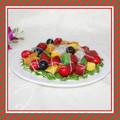 rendant artificielle modèle alimentaire décoration décoration salade de fruits colorés