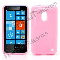 Candy Colored Smooth TPU Protective Back Case for Nokia Lumia 620, mobile phone cover case for Nokia Lumia 620 TPU