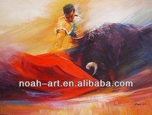 Modern Design Bullfight Painting on Canvas