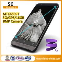 OMESMobile S6 1.5ghz Quad Core MTK6589 2MP+8MP Camera Dual-sim Phone
