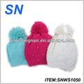 Mais recente acrílico inverno crochet beret hat para criança