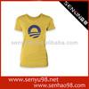 women puff sleeve t-shirts tight fit short sleeve t-shirt for women