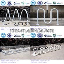 galvanized wave bike racks bike stands in display factory