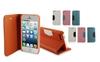 hot selling wallet case for iphone 5, OEM design phone case with high quality PU, case for iphone 5