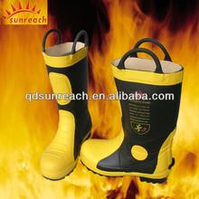 De goma contra incendios