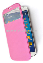 Protective cover leather flip mobile phone for samsung galaxy S4 i9500