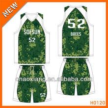 sublimation printing basketball training clothing