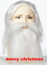 ALI HOT Fantastic Santa human hair wigs father christmas hair accessories