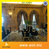 marble wall yellow color natural marble wall finish
