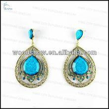 vintage victorian crystal bead teardrop earrings