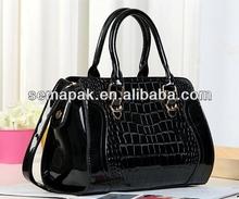 Hot sale crododile PU leather fashion shoulder bag&fashion leather bag&fashion handle bag