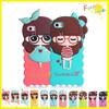 Adorable designed silicon soft cute little bush girl case For iphone5 soft silicone case