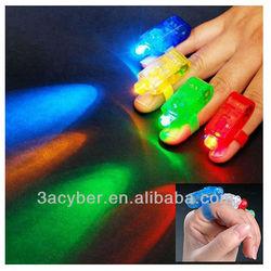 4x Color LED Finger Ring Lights