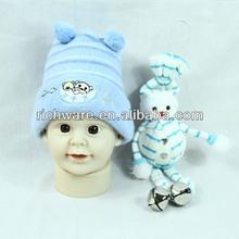 Hot selling blue baby boy winter knit cap