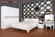 Suppler Teak timber white lacquer furniture bedroom set JK-9902