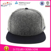 Wholesale plain custom flat brim fitted wool caps
