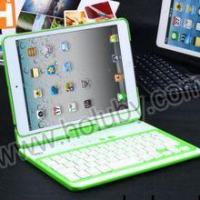 360 Degree Rotating Flip Case Bluetooth Keyboard for iPad Mini,Green Blue Pink