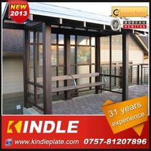 kindle professional modern commercial aluminium solar bus shelter
