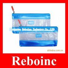 Hot sales clear vinyl pencil pouch with ziplock closure Reboinc-S251