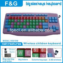 wireless kids Keyboards super big keycaps for Children
