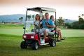 Doble asientos de carro de golf, cuatro asientos de scooter de la movilidad, de golf eléctrico del vehículo