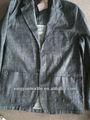 Mens' 2014 denim novo estilo blazer 100% algodão)