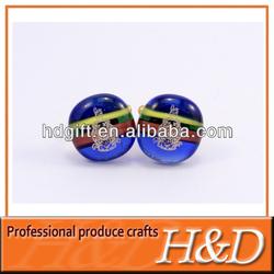 epoxy enamel circular elegant jewelry cuff links