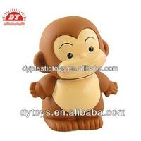 Cartoon animal figure brown small plastic monkeys