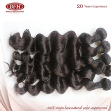 Wholesale Grade 6A loose wave Natural color no shed brazilian virgin hair 26 inch bundle