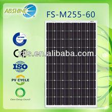 EU Market PV Grid System solar panel 255Watt