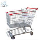 American style folding metal supermarket shopping cart