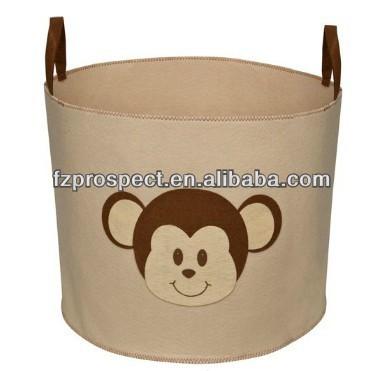 Beige Monkey Toy Storage box