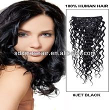 Grade AAAAA kinky curly clip in hair extensions