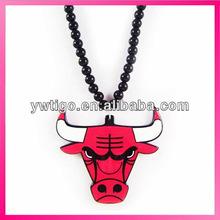 Wholesale acrylic hip hop style chicago bulls necklace