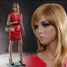 Afellow maniquí femenino de cuerpo completo de fibra de vidrio realista de coser maniquíes de la venta