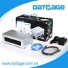 Datage F500 3.5 Inch 2 Bay External RAID HDD Storage Casing Firewire800+USB3.0+eSATA