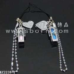 heart mobile phone strap couple lover/heart shape/cute mobile phone strap